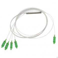Оптический сплиттер PLC 1x4 0.9мм 5SC/APC
