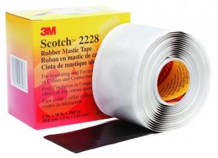 Scotch 2228, резиново-мастичная электроизоляционная лента 3М, 50мм х1,65мм х3м