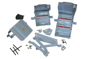 Устройство кабельных соединений УКС 40/2 на квадратной трубостойке