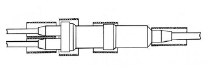 Муфта 3МРП 1-1 с термоусаживаемой трубкой