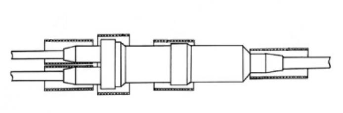 Муфта 2МРП 0,5 с термоусаживаемой трубкой