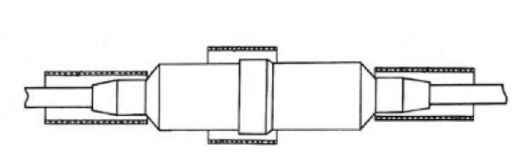 Муфта МППнг 1 с термоусаживаемой трубкой